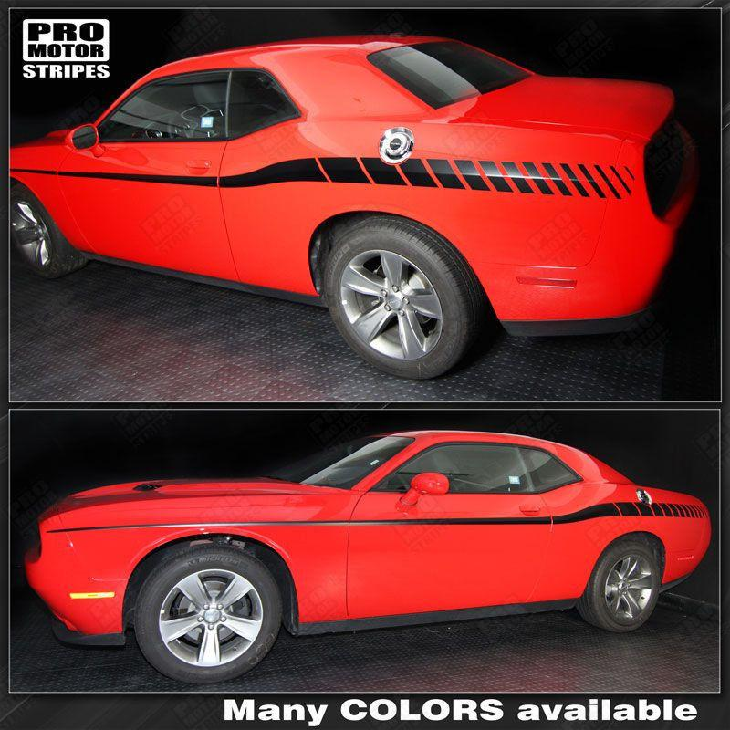 Dodge Challenger 2008-2018 Racing Arrow Side Stripes Auto Decals - Pro Motor Stripes