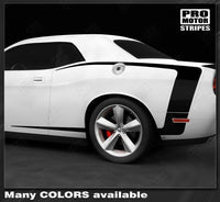 2008 2009 2010 2011 2012 2013 2014 2015 2016 2017 2018 2019 Dodge Challenger side  door  rocker panel Decals Stripes 132229426727-1