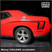 Dodge Challenger 2008-2018 Rear Quarter Side Stripes Auto Decals - Pro Motor Stripes