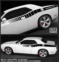 Dodge Challenger 2008-2019 Reverse Strobe Side Stripes