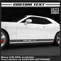 2008 2009 2010 2011 2012 2013 2014 2015 2016 2017 2018 2019 Dodge Challenger side  door  rocker panel Decals Stripes 122551591309-1