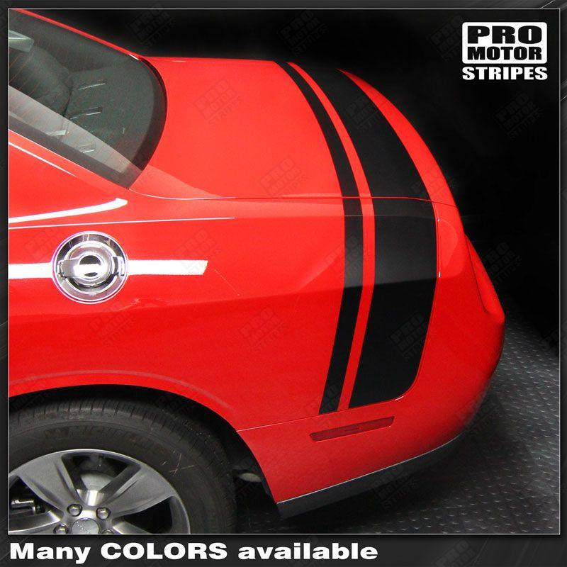 2008 2009 2010 2011 2012 2013 2014 2015 2016 2017 2018 2019 Dodge Challenger side  trunk Decals Stripes 152588453917-1