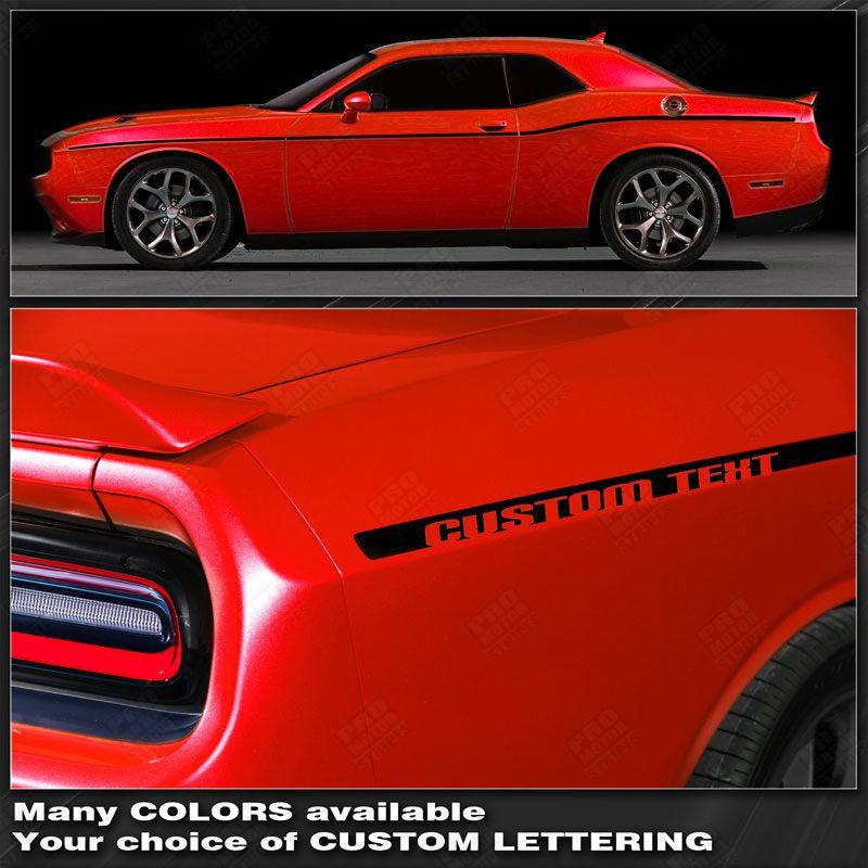 Dodge Challenger 2008-2018 SCAT PACK Style Side Stripes Auto Decals - Pro Motor Stripes