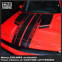 Dodge Challenger 2008-2019 Split Hood Custom T-Stripes
