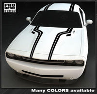 Dodge Challenger 2008-2018 Top Accent Double Stripes Auto Decals - Pro Motor Stripes