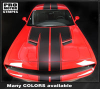 Dodge Challenger 2008-2019 Top Double Stripes Pinstriping