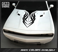 Dodge Challenger 2008-2019 Tribal Style Hood Stripe Decal