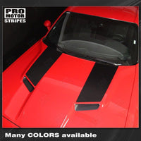 Dodge Challenger 2015-2018 Side Panel Hood Accent Stripes Auto Decals - Pro Motor Stripes
