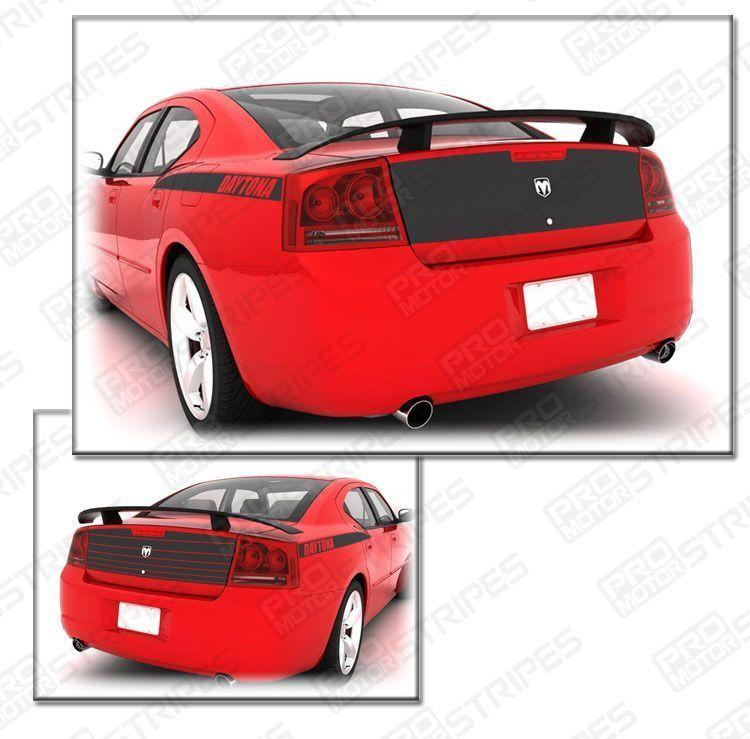 Dodge Charger 2006-2010 Daytona Trunk Deck Blackout Stripe Decal Auto Decals - Pro Motor Stripes