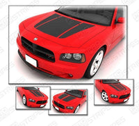 2006 2007 2008 2009 2010 Dodge Charger hood Decals Stripes 122604542640-2