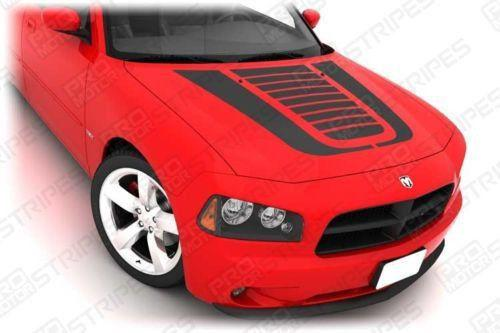 Dodge Charger 2006-2010 Hood Graphic Accent Stripes Auto Decals - Pro Motor Stripes