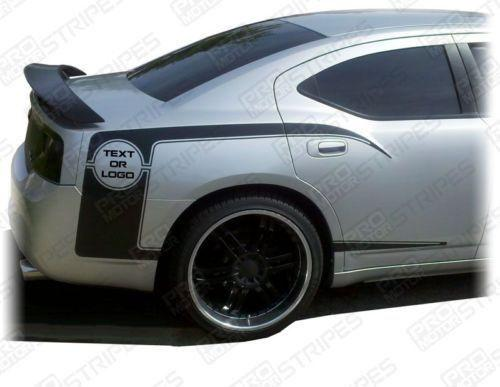 2006 2007 2008 2009 2010 Dodge Charger side  door Decals Stripes 122604684154-1
