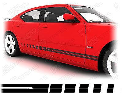 2006 2007 2008 2009 2010 Dodge Charger side  door  rocker panel Decals Stripes 152588454796-1