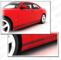 2006 2007 2008 2009 2010 Dodge Charger side  door  rocker panel Decals Stripes 132265749144-1