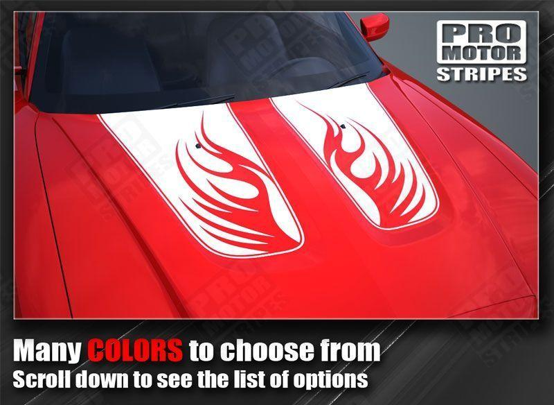 Dodge Charger 2011-2014 Fire Wings Hood Stripes Auto Decals - Pro Motor Stripes