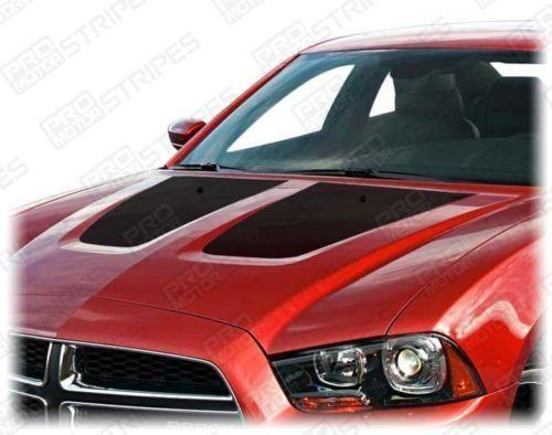 Dodge Charger 2011-2014 Hood Accent or Blackout Decals Stripes Auto Decals - Pro Motor Stripes