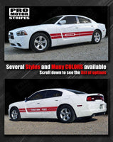 Dodge Charger 2011-2014 Rally Sport Mid-Body Side Stripes Auto Decals - Pro Motor Stripes
