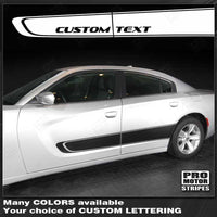 Dodge Charger 2011-2018 Door Accent Side Stripes Auto Decals - Pro Motor Stripes
