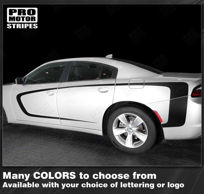 2011 2012 2013 2014 2015 2016 2017 2018 2019 Dodge Charger side  door Decals Stripes 122702005133-1