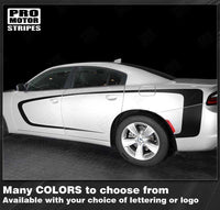 Dodge Charger 2011-2018 Front to Rear Side Accent Stripes Auto Decals - Pro Motor Stripes