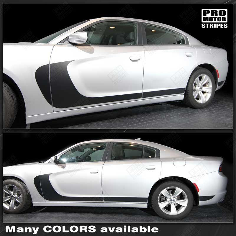 2011 2012 2013 2014 2015 2016 2017 2018 2019 Dodge Charger side  door  rocker panel Decals Stripes 122702014171-1