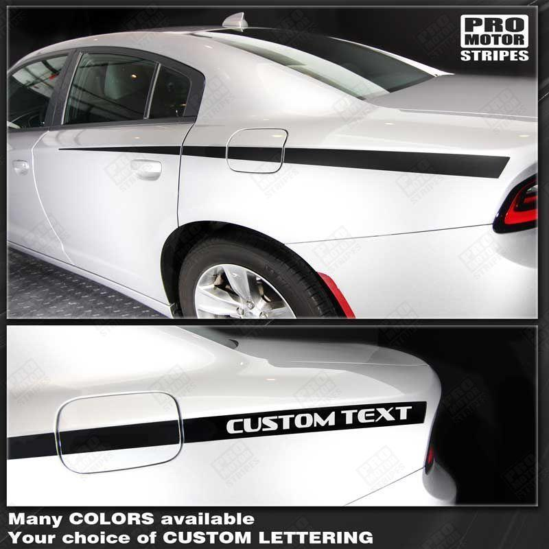 Dodge Charger 2011-2019 Rear Qaurter Side Accent Stripes