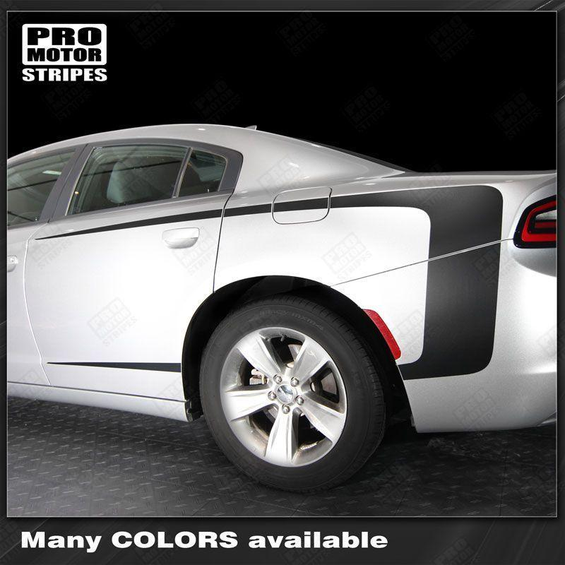 Dodge Charger 2011-2018 Rear Quarter Side Accent Stripes Auto Decals - Pro Motor Stripes