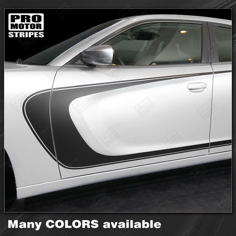 2011 2012 2013 2014 2015 2016 2017 2018 2019 Dodge Charger side  door  rocker panel Decals Stripes 132344426495-1