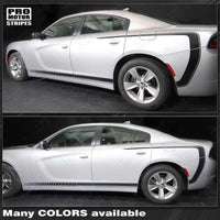 2011 2012 2013 2014 2015 2016 2017 2018 2019 Dodge Charger side  door  rocker panel Decals Stripes 152718238220-1