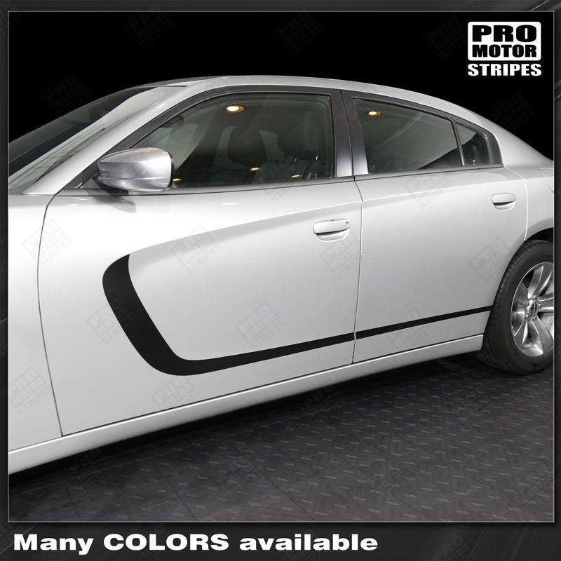 2011 2012 2013 2014 2015 2016 2017 2018 2019 Dodge Charger side  door Decals Stripes 152721217621-1