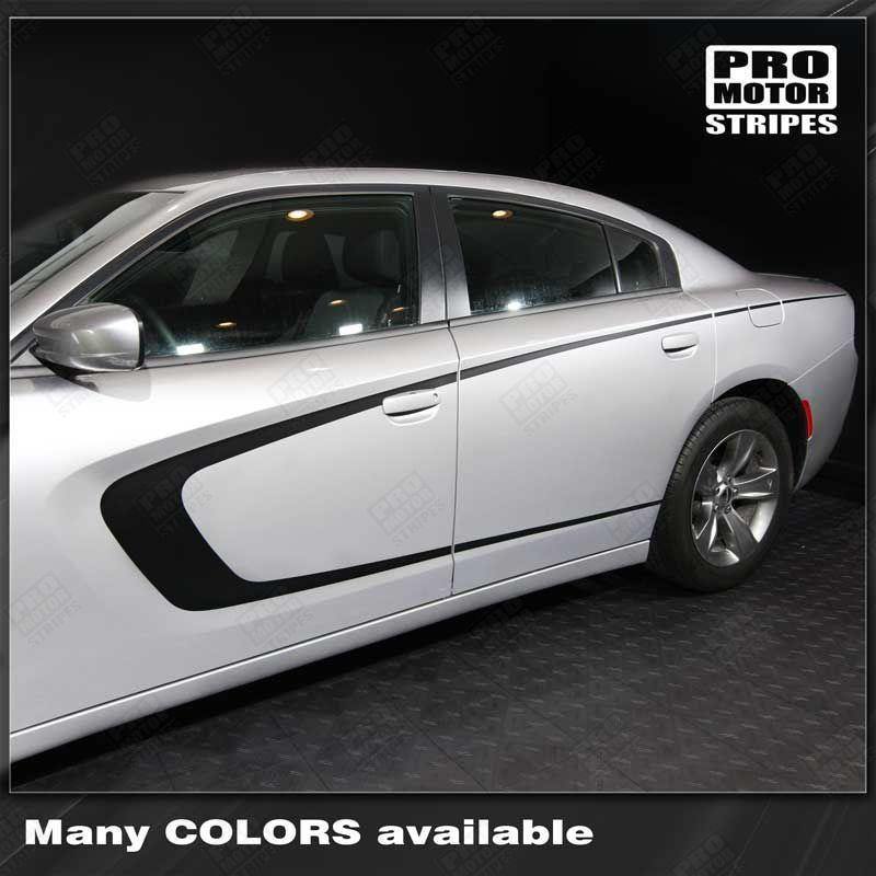 2011 2012 2013 2014 2015 2016 2017 2018 2019 Dodge Charger side  door Decals Stripes 122701996006-1
