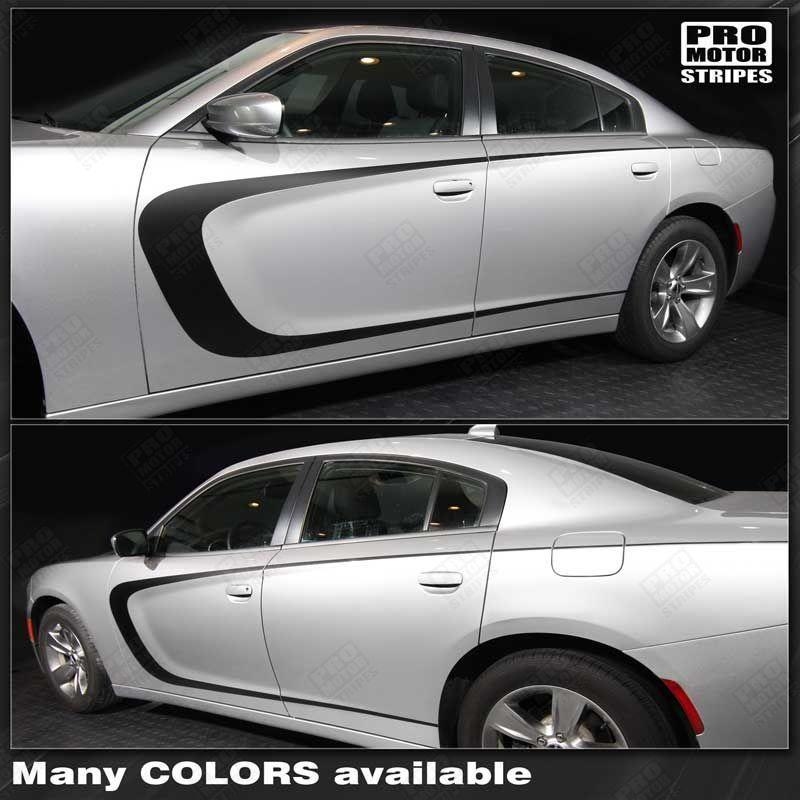 Dodge Charger 2011-2018 Side Scallop Accent C-Stripes Auto Decals - Pro Motor Stripes