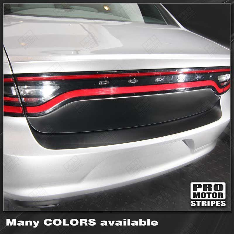 2011 2012 2013 2014 2015 2016 2017 2018 2019 Dodge Charger trunk  bumper Decals Stripes 122726063847-1