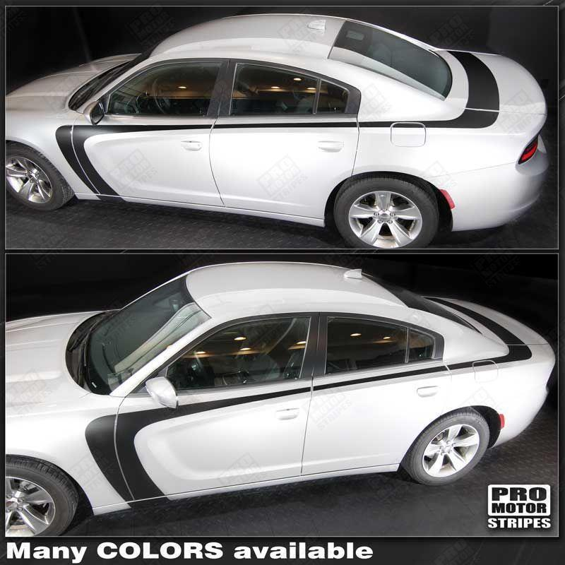 2011 2012 2013 2014 2015 2016 2017 2018 2019 Dodge Charger side  trunk  door Decals Stripes 132326644927-1