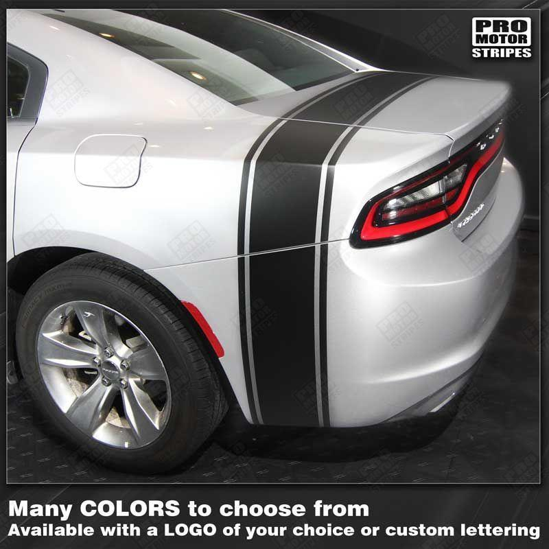 2015 2016 2017 2018 2019 Dodge Charger side  trunk Decals Stripes 132342025902-1
