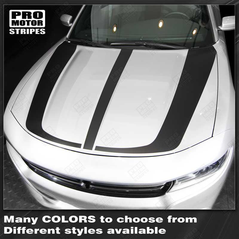 2015 2016 2017 2018 2019 Dodge Charger hood Decals Stripes 132342060745-1