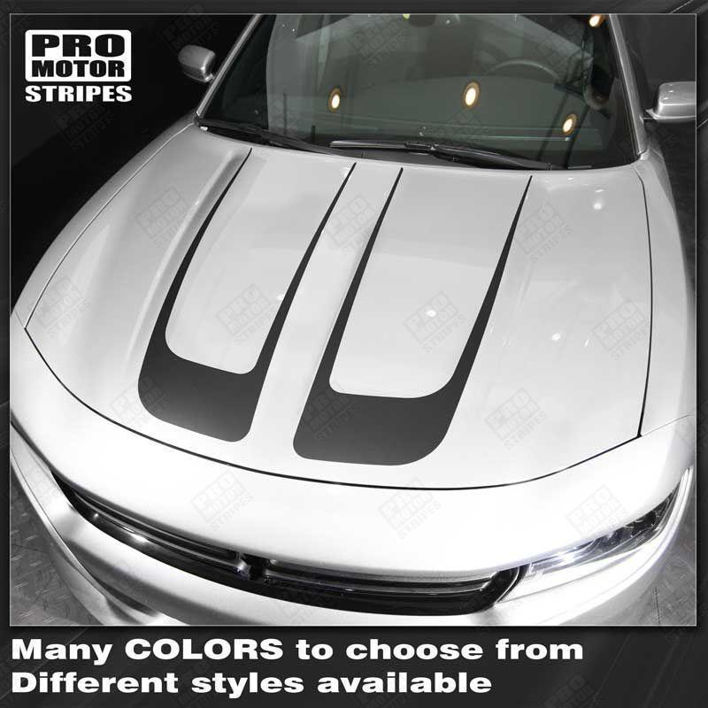 Dodge Charger 2015-2018 Hood Accent Decals Stripes Auto Decals - Pro Motor Stripes