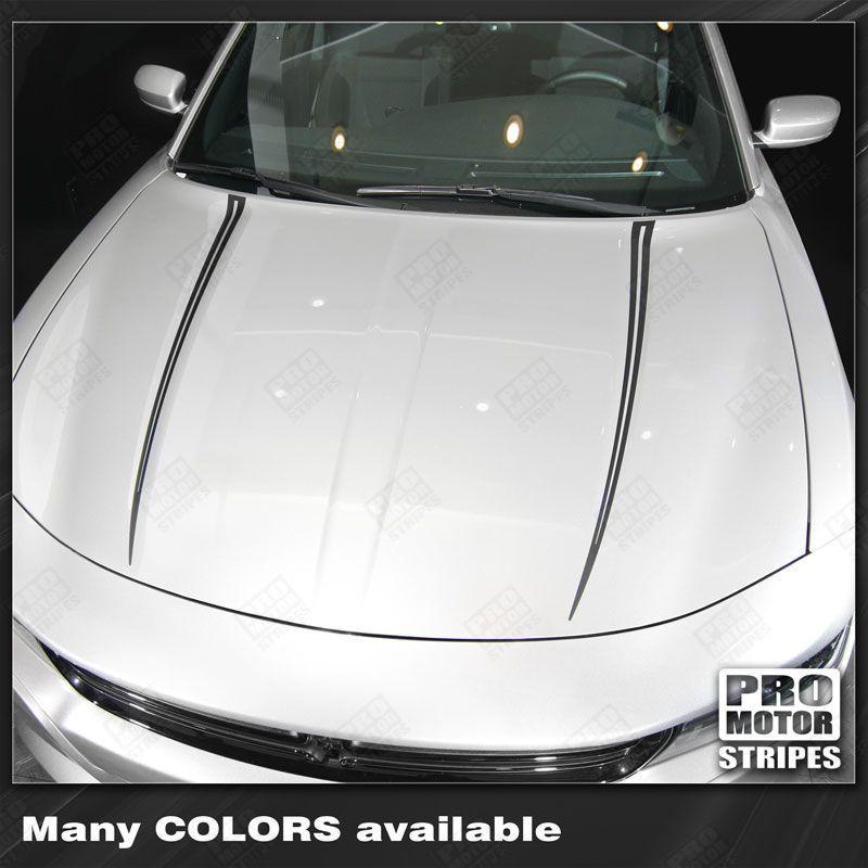 Dodge Charger 2015-2018 Hood Spear Accent Decals Stripes Auto Decals - Pro Motor Stripes