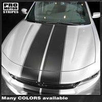Dodge Charger 2015-2019 Over the Top Double Stripes /w Pinstripes