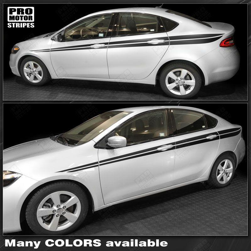 Choose Color Dodge Dart 2013-2018 Over The Top Rally Double Stripes Decals