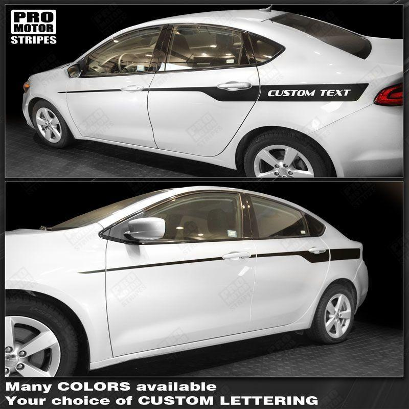 Dodge Dart 2013-2018 Javelin Side Accent Stripes Auto Decals - Pro Motor Stripes