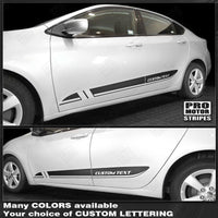 Dodge Dart 2013-2018 Lower Door Rocker Panel Side Stripes