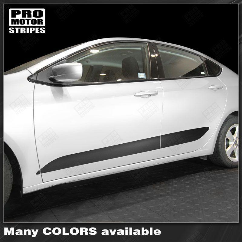 Dodge Dart 2013-2018 Lower Door Rocker Panel Side Stripes Auto Decals - Pro Motor Stripes