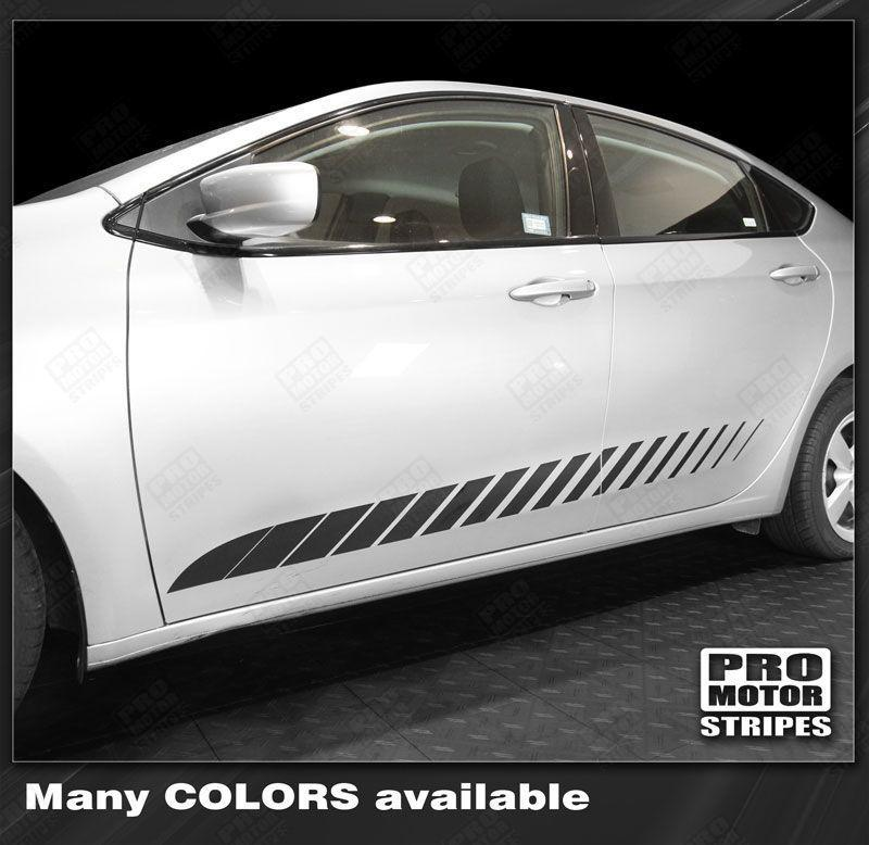 2013 2014 2015 2016 2017 2018 Dodge Dart side  door  rocker panel Decals Stripes 122740705247-1