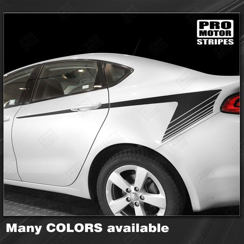 2013 2014 2015 2016 2017 2018 Dodge Dart side  door Decals Stripes 122738065419-1