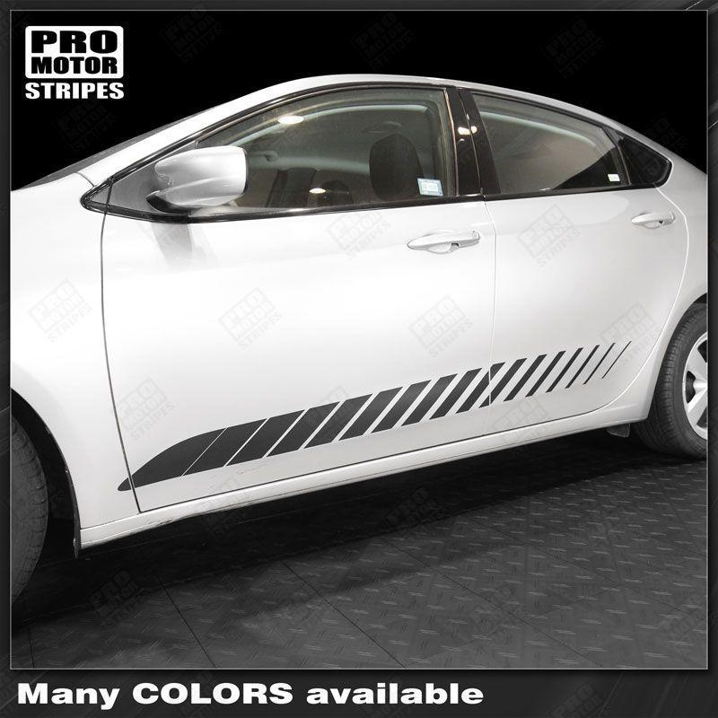 2013 2014 2015 2016 2017 2018 Dodge Dart side  door  rocker panel Decals Stripes 152732520317-1
