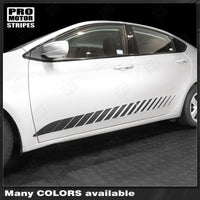Dodge Dart 2013-2018 Rocker Panel Strobe Side Stripes