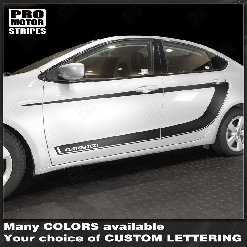 Dodge Dart 2013-2018 Side Accent C-Stripes Auto Decals - Pro Motor Stripes