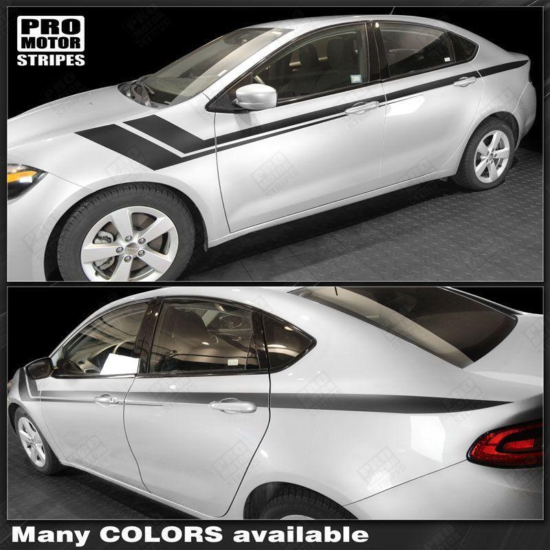 2013 2014 2015 2016 2017 2018 Dodge Dart side  door Decals Stripes 132352886516-1