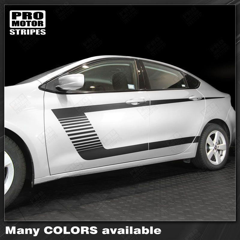 2013 2014 2015 2016 2017 2018 Dodge Dart side  door  rocker panel Decals Stripes 152732510451-1